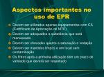 aspectos importantes no uso de epr