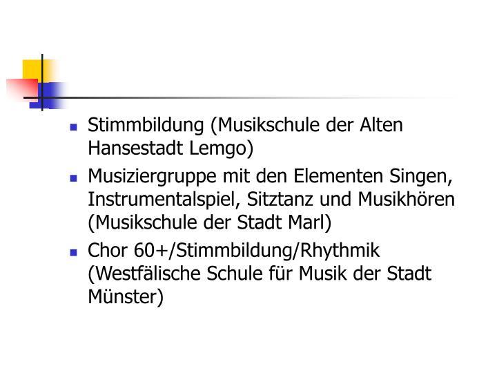 Stimmbildung (Musikschule der Alten Hansestadt Lemgo)