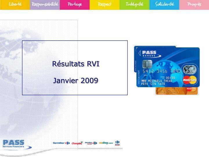 Résultats RVI