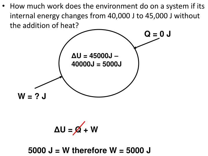 Q = 0 J