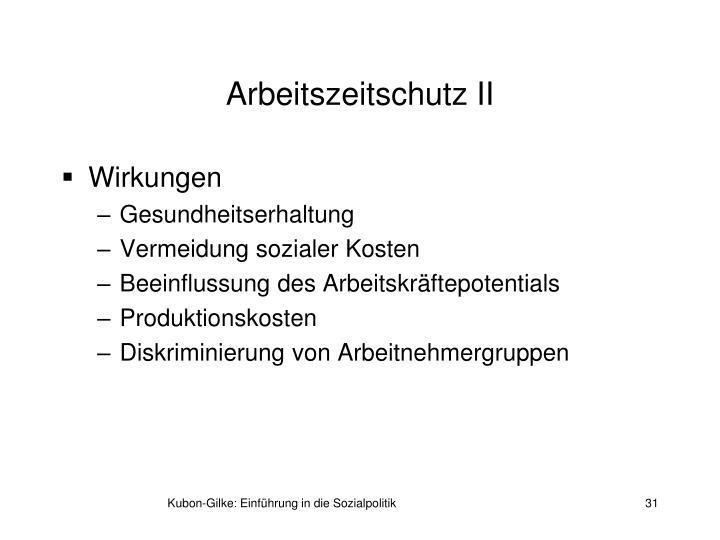 Arbeitszeitschutz II