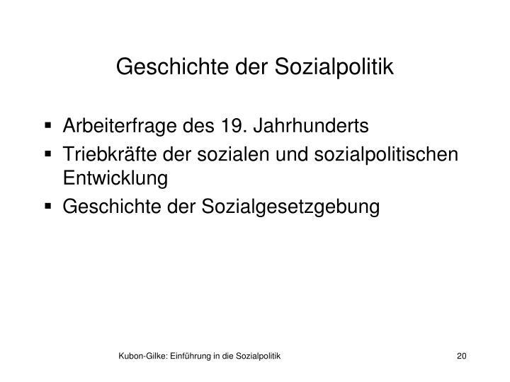 Geschichte der Sozialpolitik