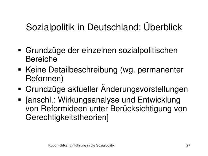 Sozialpolitik in Deutschland: Überblick
