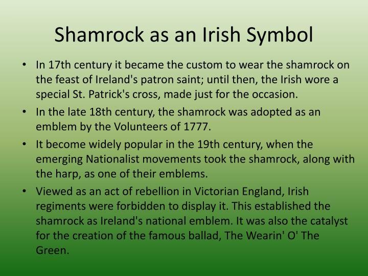Shamrock as an Irish Symbol