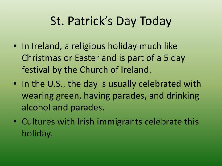 St. Patrick's Day Today