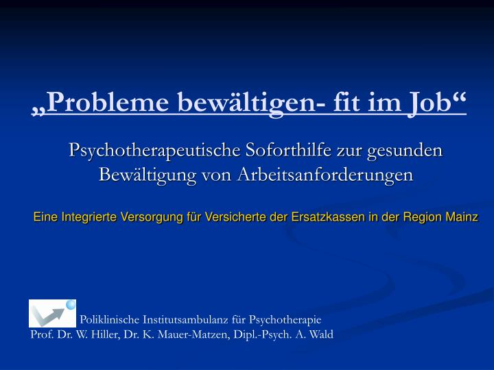 Probleme bew ltigen fit im job