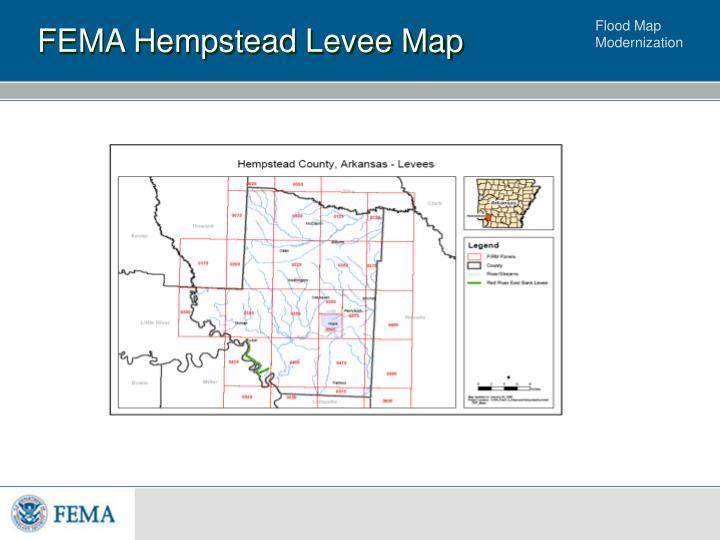 FEMA Hempstead Levee Map