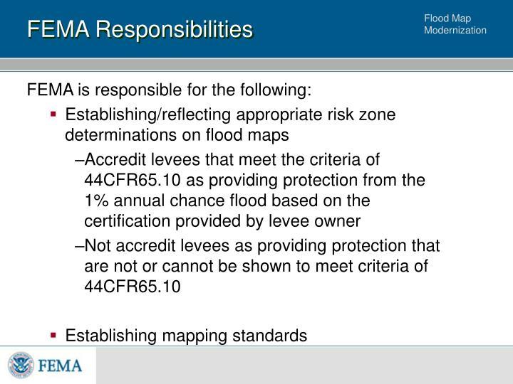 FEMA Responsibilities