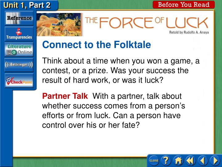 Connect to the Folktale