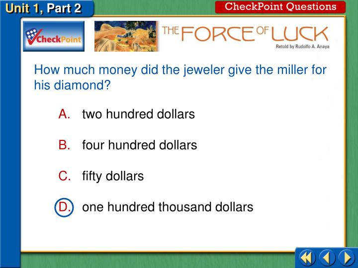 How much money did the jeweler give the miller for his diamond?