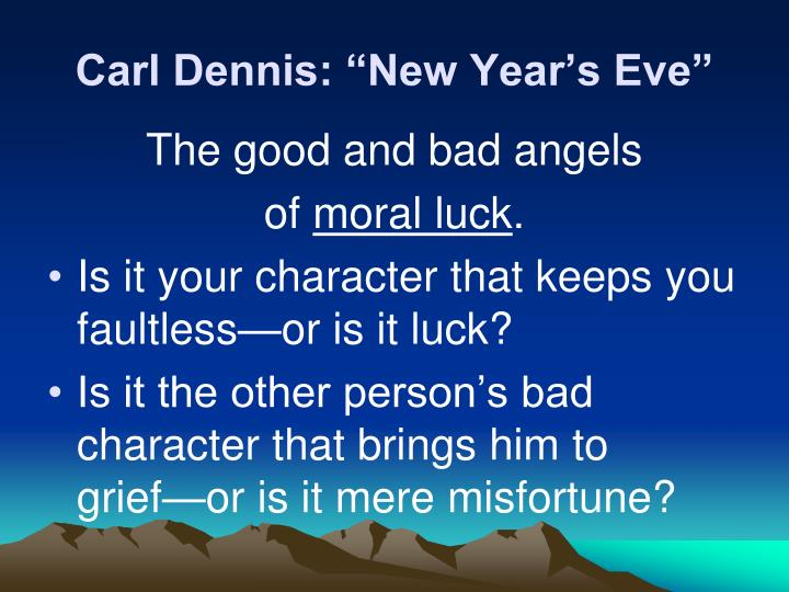 "Carl Dennis: ""New Year's Eve"""