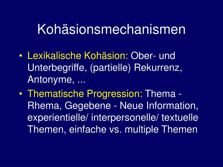Kohäsionsmechanismen