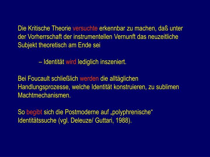 Die Kritische Theorie