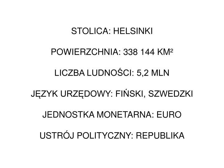 STOLICA: HELSINKI