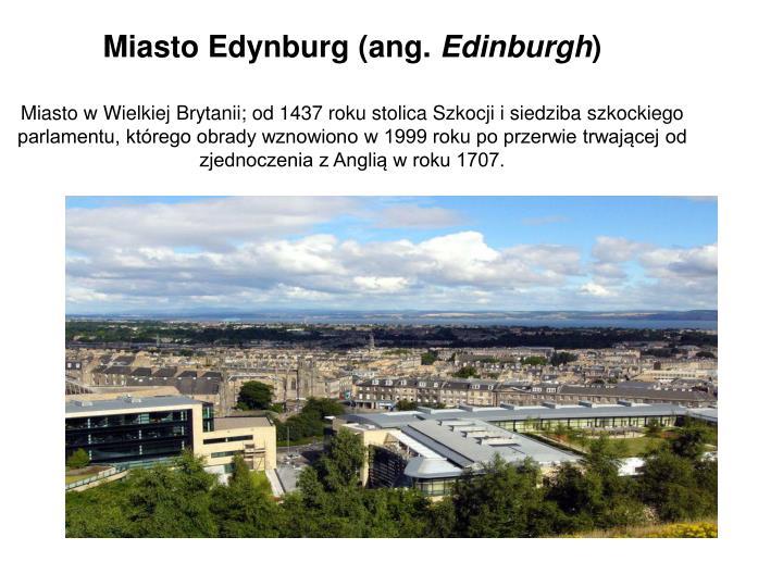 Miasto Edynburg (ang.