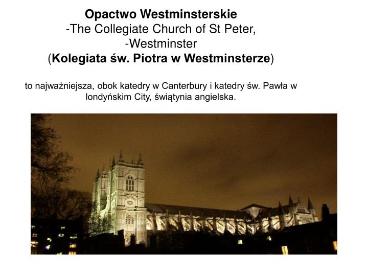 Opactwo Westminsterskie