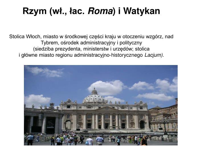 Rzym (wł., łac.