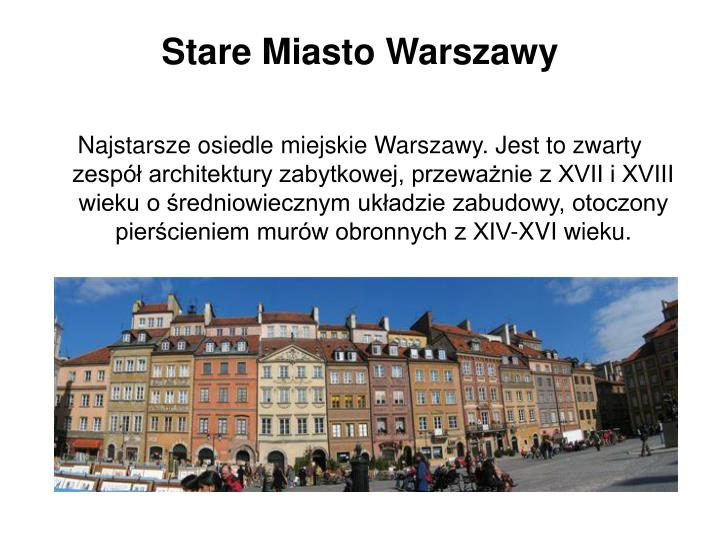 Stare Miasto Warszawy