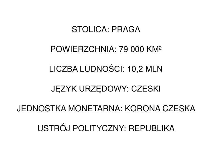 STOLICA: PRAGA