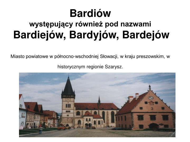Bardiów