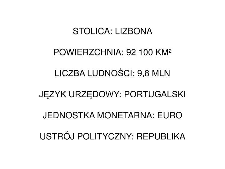 STOLICA: LIZBONA