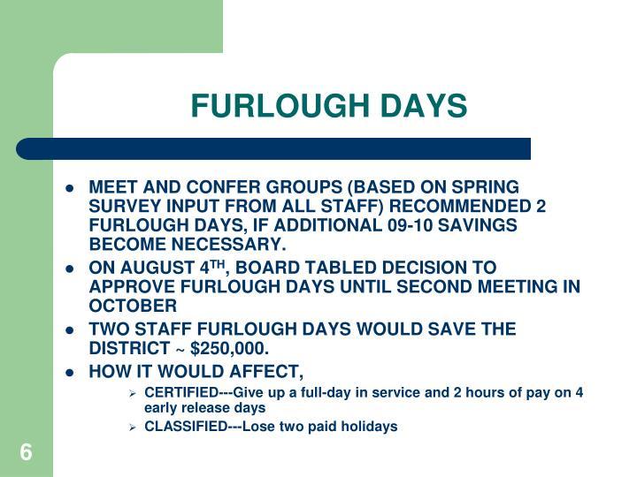 FURLOUGH DAYS