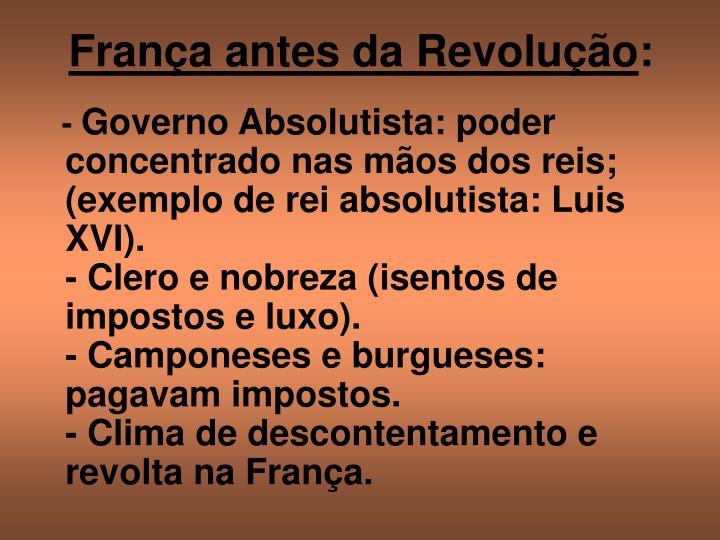 França antes da Revolução