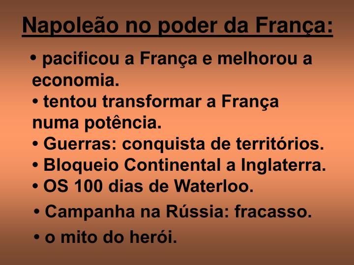 Napoleão no poder da França: