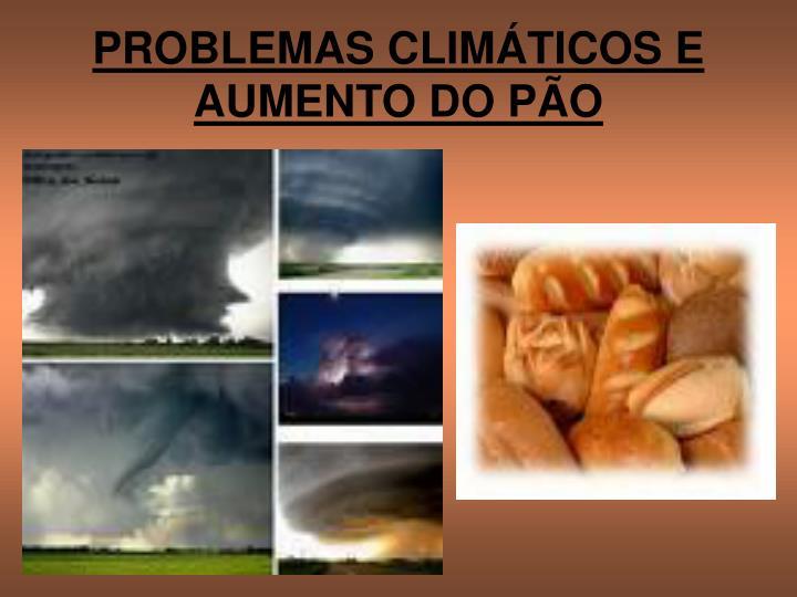 PROBLEMAS CLIMÁTICOS E AUMENTO DO PÃO