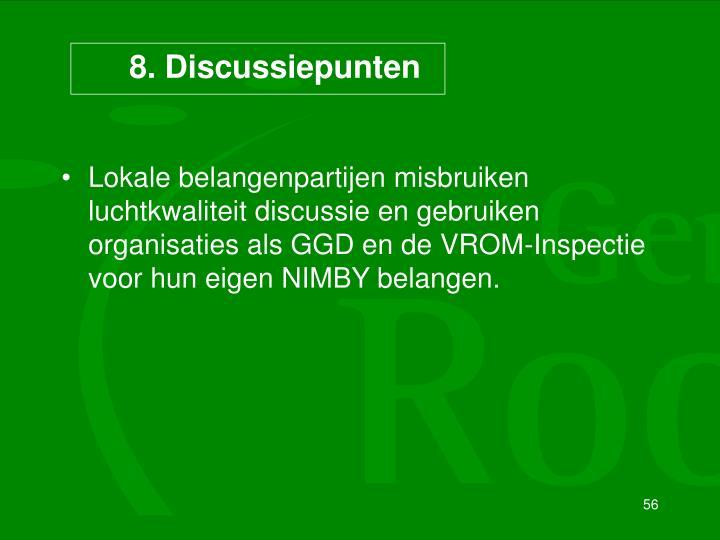 8. Discussiepunten