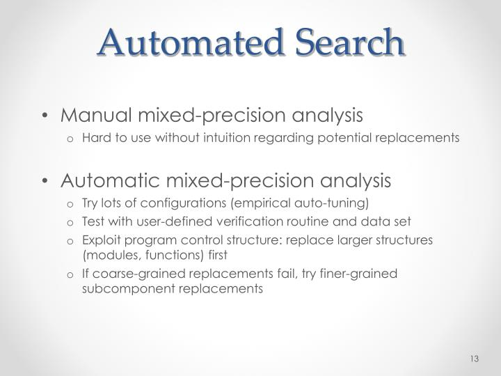Automated Search