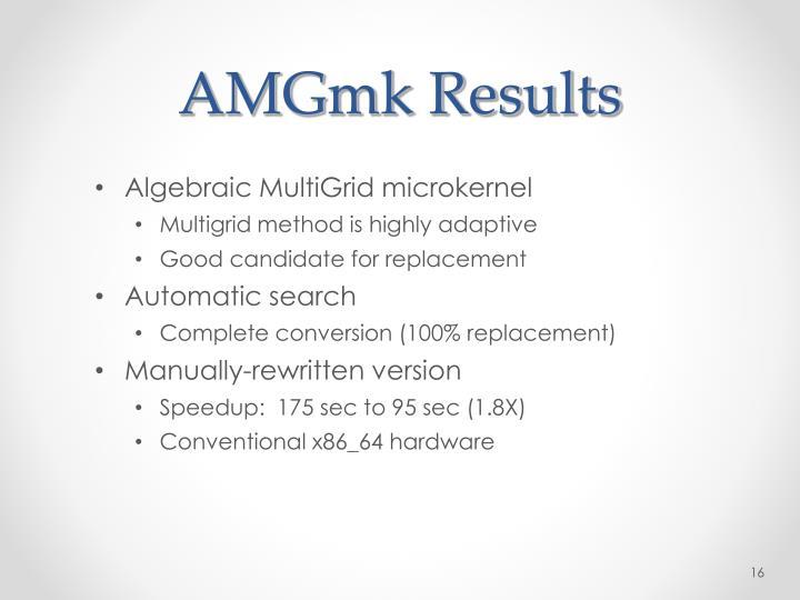 AMGmk Results