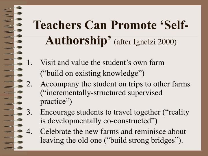 Teachers Can Promote 'Self-Authorship'
