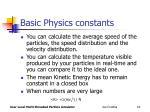 basic physics constants