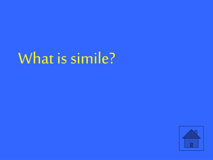 What is simile?