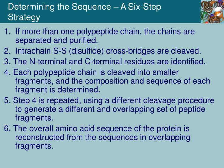 Determining the Sequence – A Six-Step Strategy