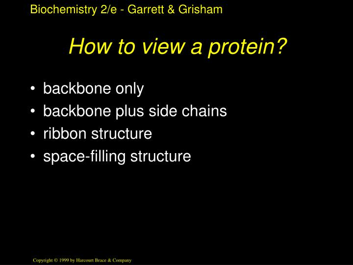 How to view a protein?