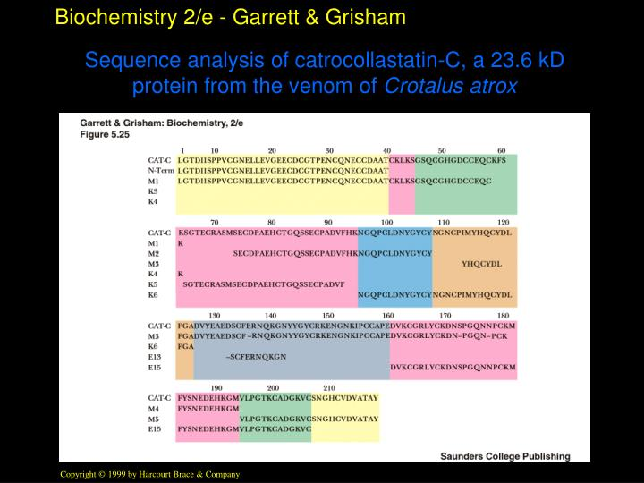 Sequence analysis of catrocollastatin-C, a 23.6 kD protein from the venom of