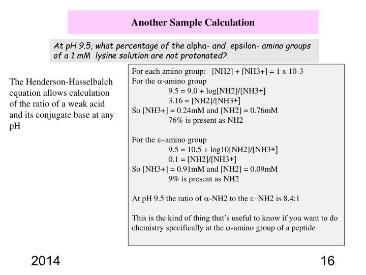 Another Sample Calculation
