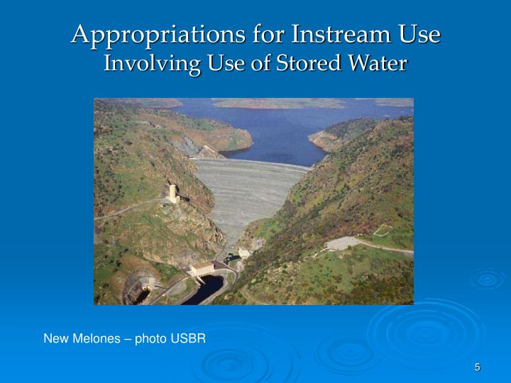 Appropriations for Instream Use