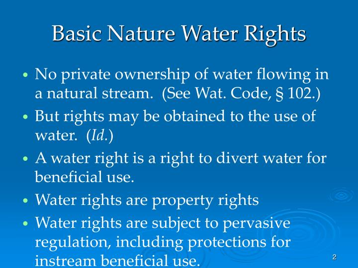 Basic nature water rights