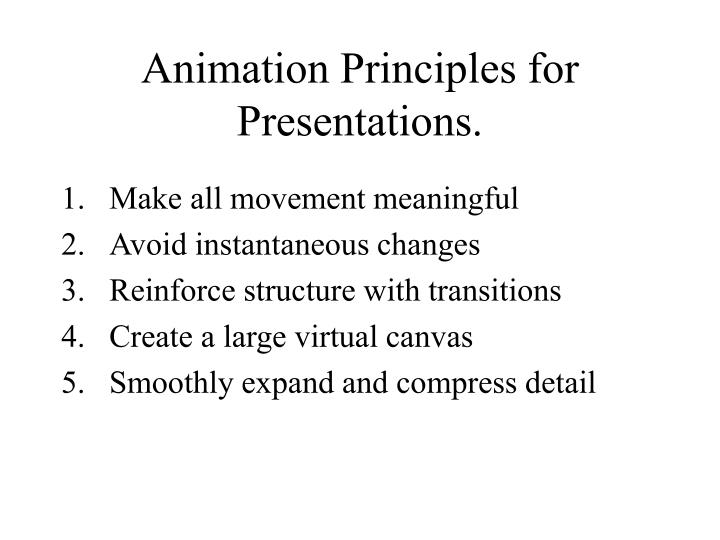 Animation Principles for Presentations.