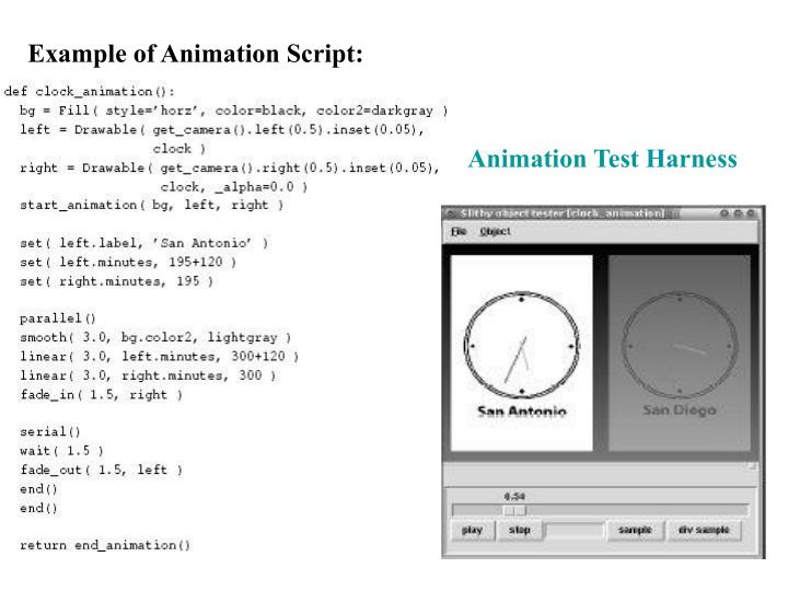 Example of Animation Script: