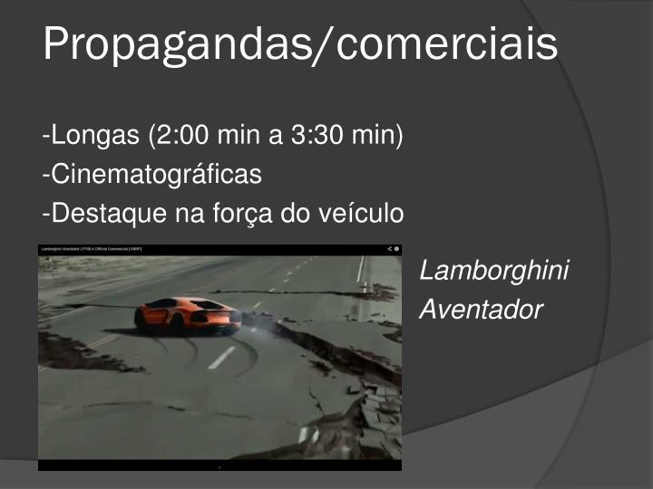 Propagandas/comerciais