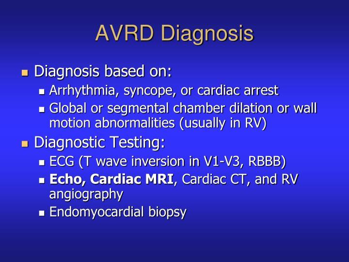 AVRD Diagnosis