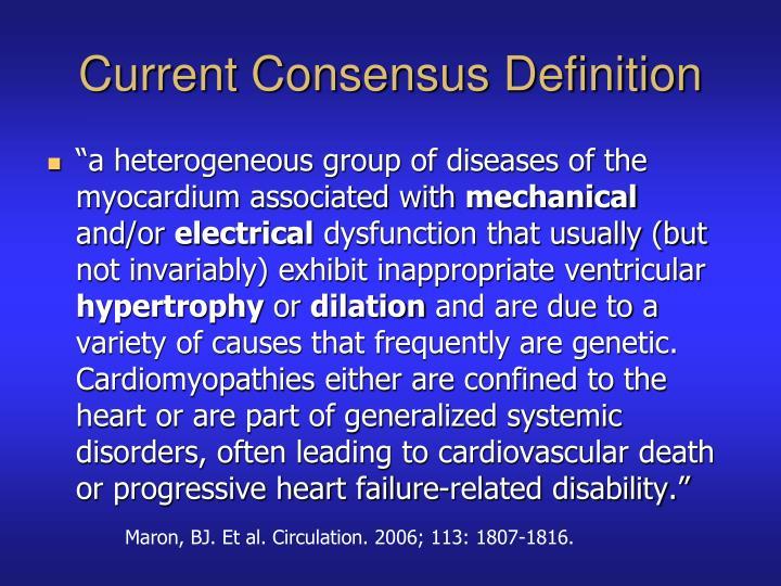 Current Consensus Definition
