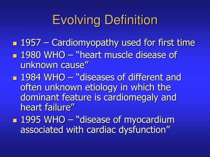 Evolving Definition
