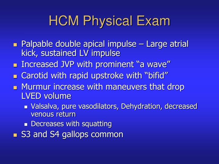 HCM Physical Exam