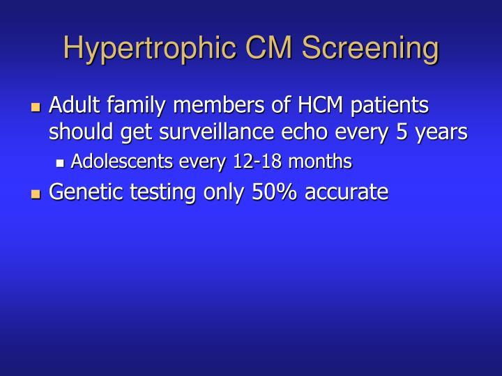 Hypertrophic CM Screening