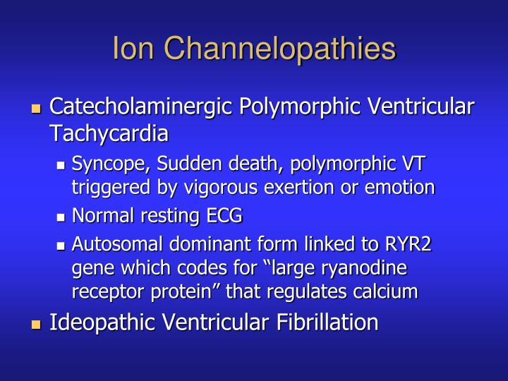 Ion Channelopathies